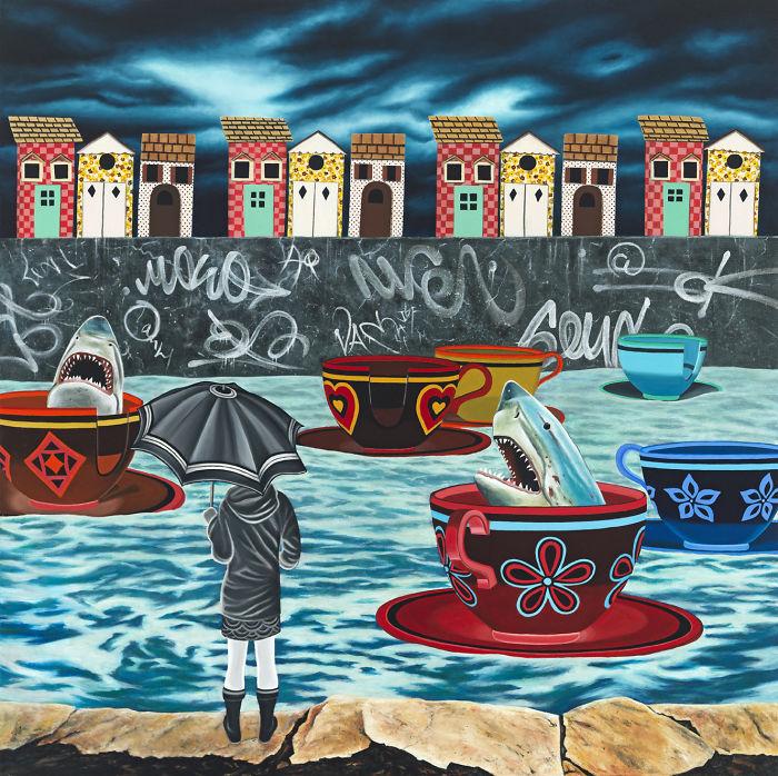 Low Tide, Oil On Canvas, 30″ X 30″
