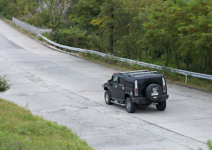 I Hardly See Cars On The Highways Of North Korea During All My Six Trips. Now I Am Lucky Enough To Spot An American… Hummer!