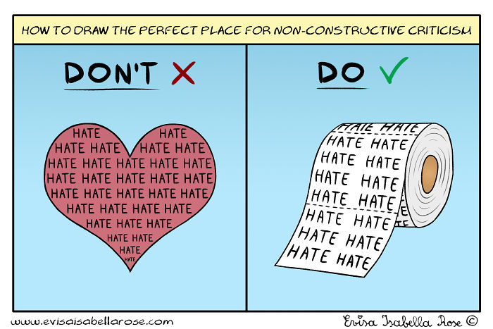 How To Draw The Perfect Place For Non-constructive Criticism