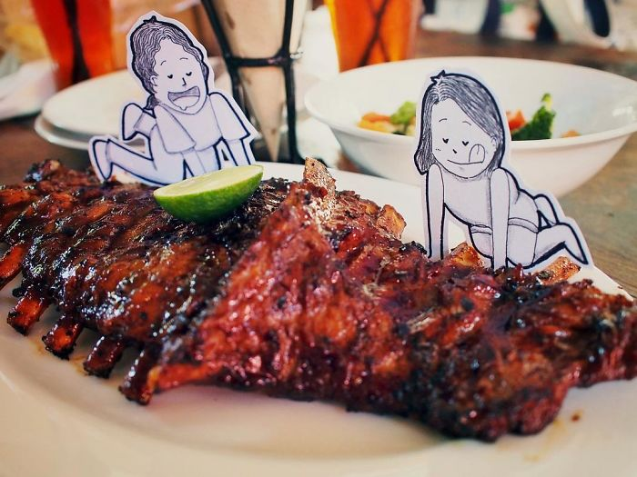 One Thing That Abang & Neng Would Never Want To Miss When In Bali Is To Dig Into This Delicious Pork Ribs From Naughty Nuri's