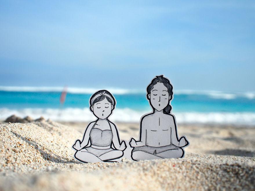 Meditating On Beautiful Pandawa Beach... Or Just Play Pretend?