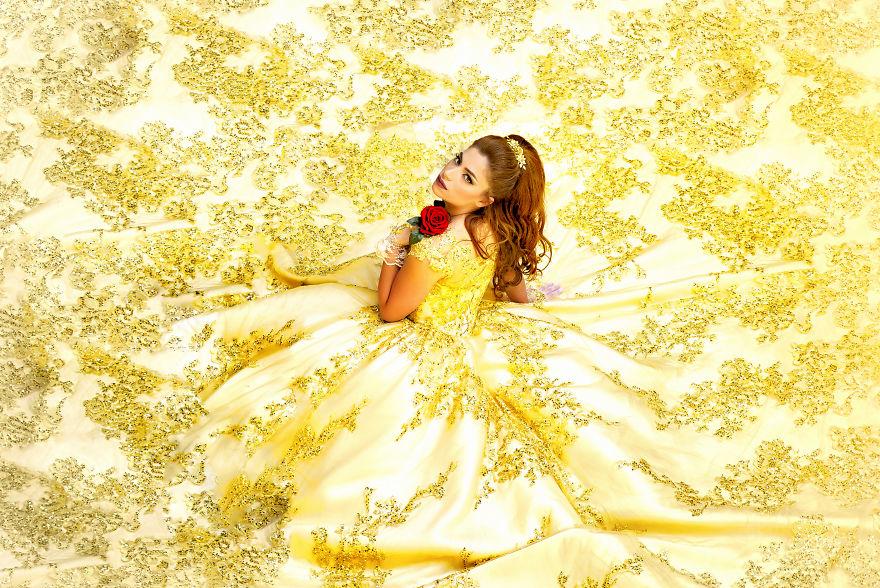 Photographer Stumbles Into Disney-Inspired Wedding Shoot