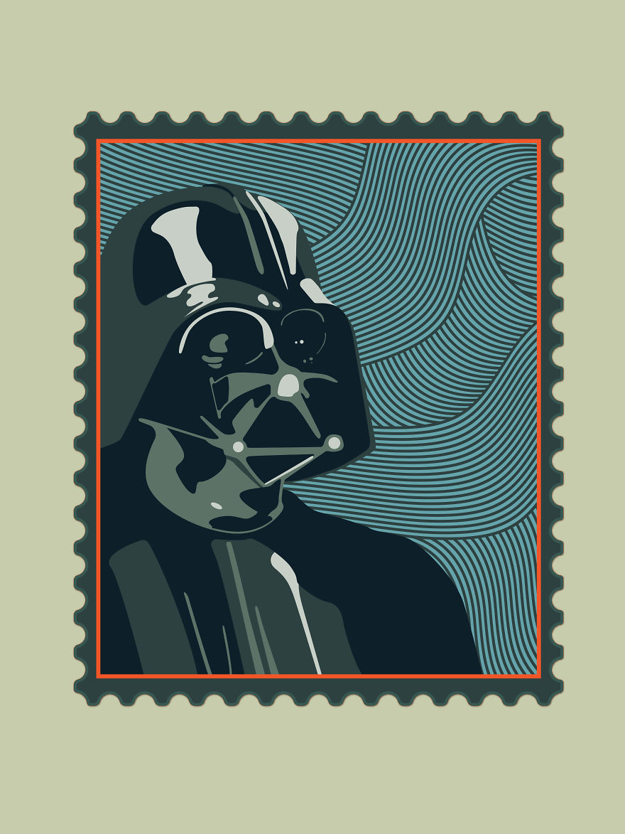 Postal Stamps Inspired By Iconic Movies Bored Panda