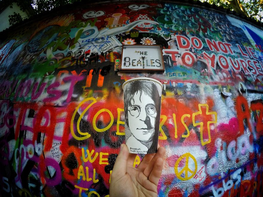 Prague, John Lennon Portrait