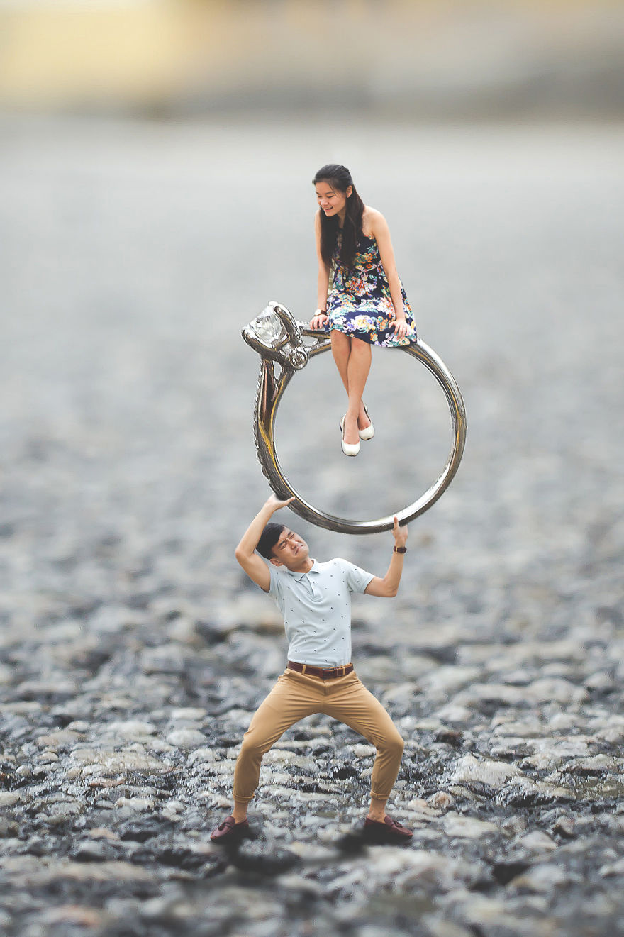 I Turned This Couple S Pre Wedding Photo Shoot Into A