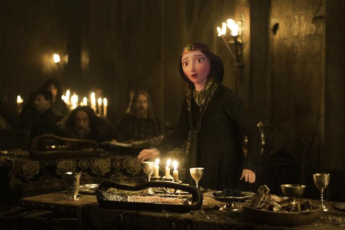 Queen Elinor As Catelyn Stark (Michelle Fairley)