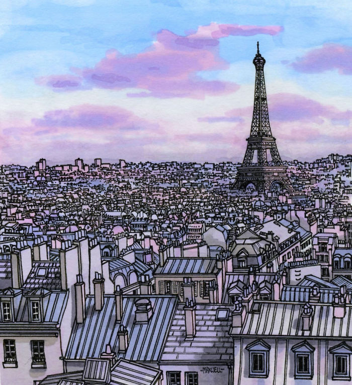Paris In Purple