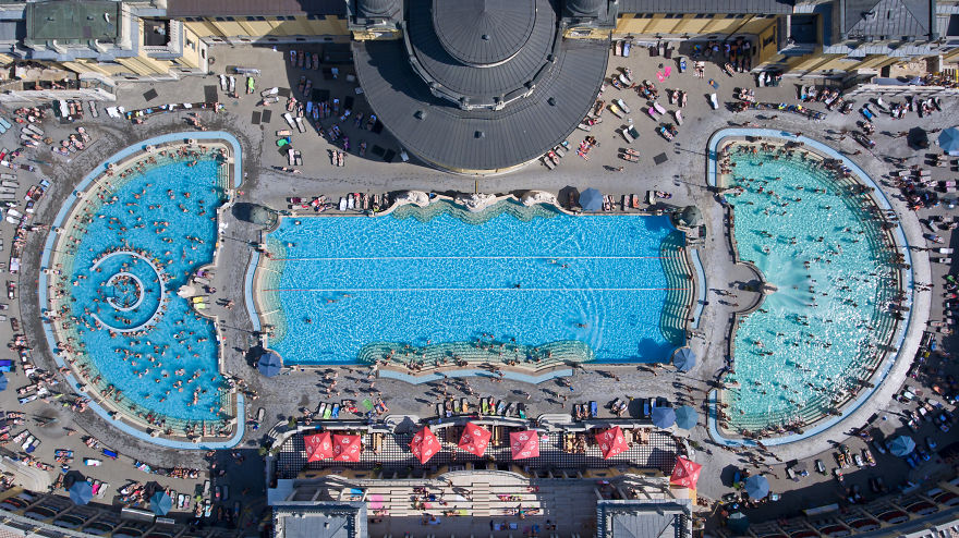 Spectacular Bird S Eye View Of Extraordinary Pools In