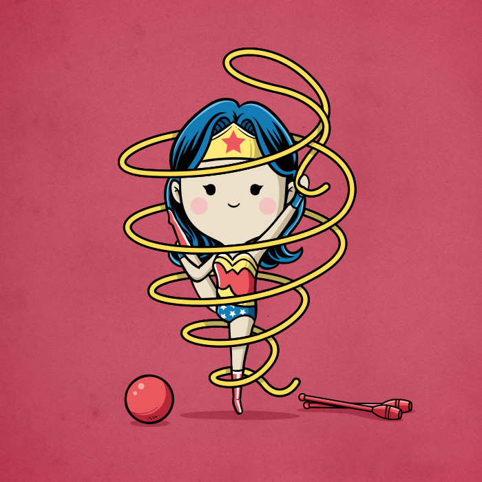 Sporty Wonder Woman - Ribbon