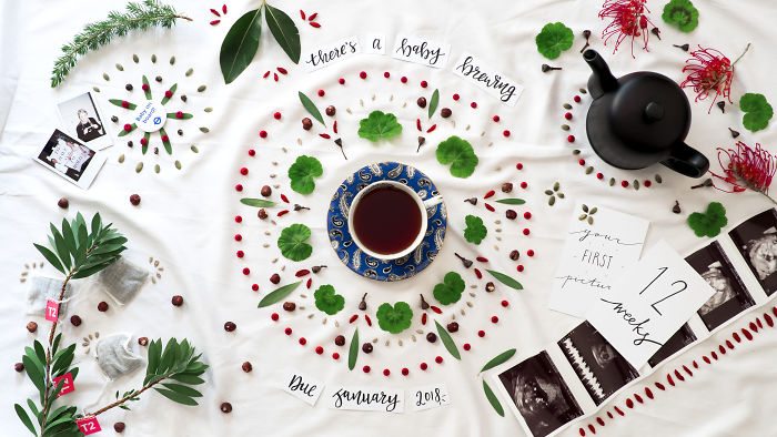There's A Baby Brewing: Flat Lay, Stop Frame Animation – Pregnancy Announcement