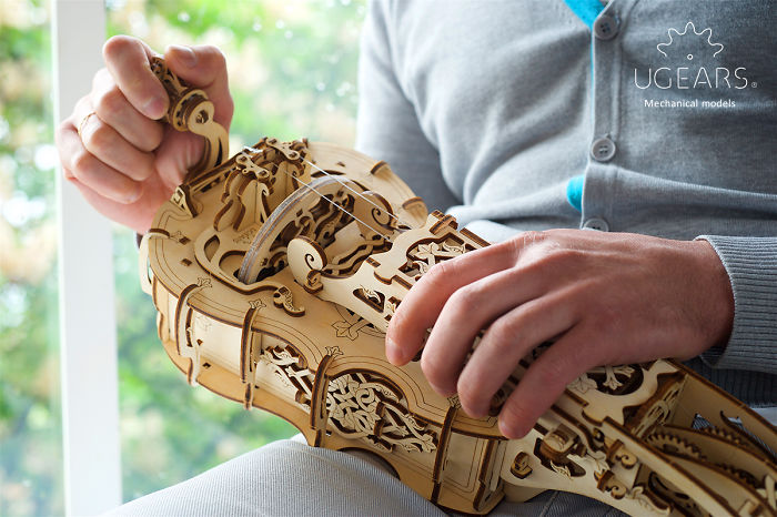 Ugears Hurdy-Gurdy: The World's First Musical Instrument You Self-Assemble To Play