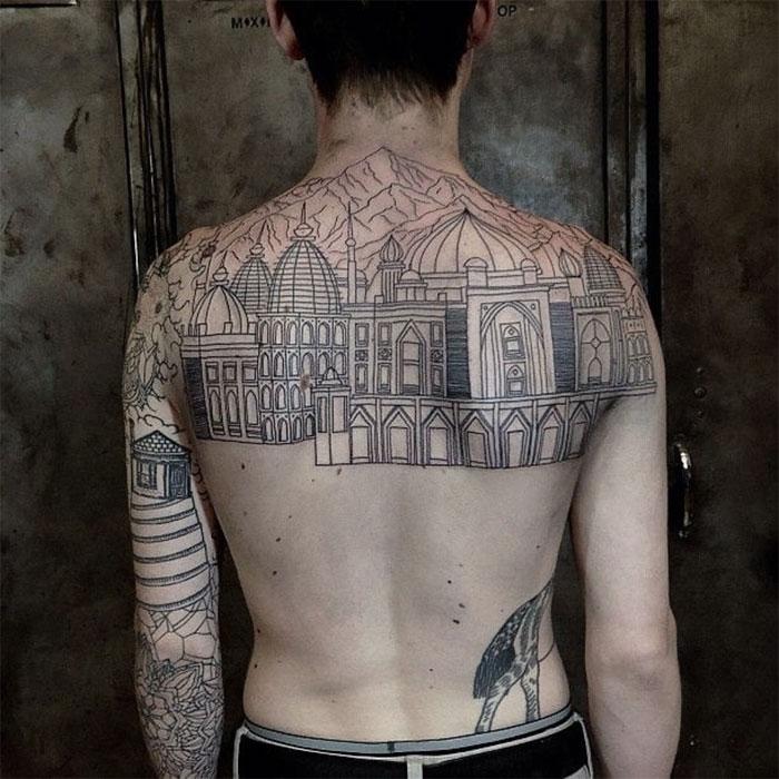 Tatuajes de edificios