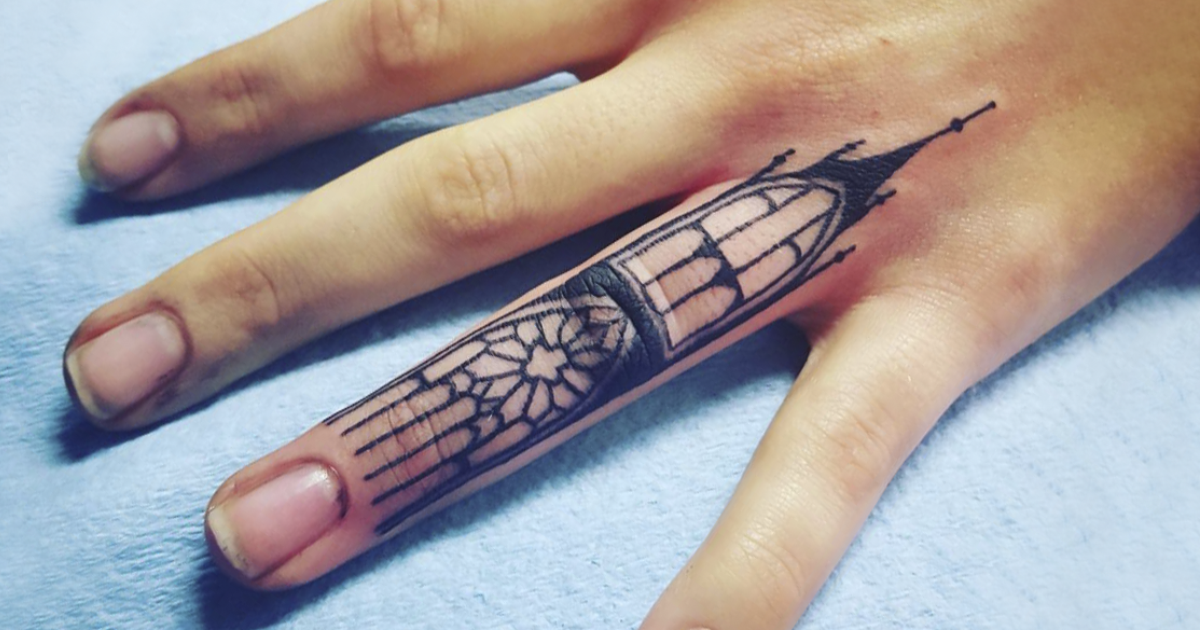 10 architecture tattoos that ll make you want to get inked bored panda. Black Bedroom Furniture Sets. Home Design Ideas