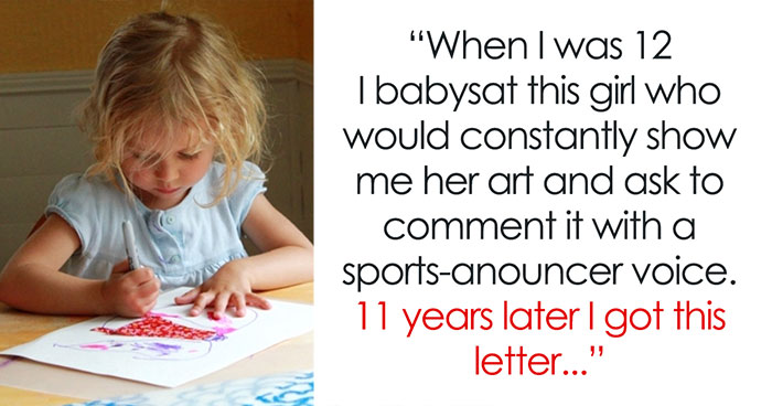 12-Year-Old Babysitter Encouraged A Little Girl She Was Watching, 11 Years Later She Got This Letter