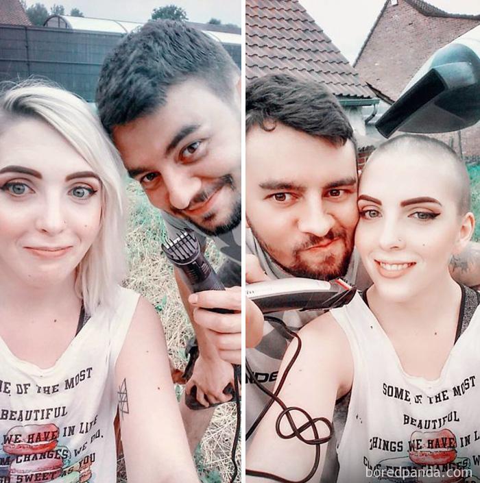 Mi novio me ha cortado el pelo y me encanta
