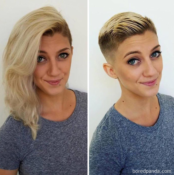Before And After Haircut Bored Panda