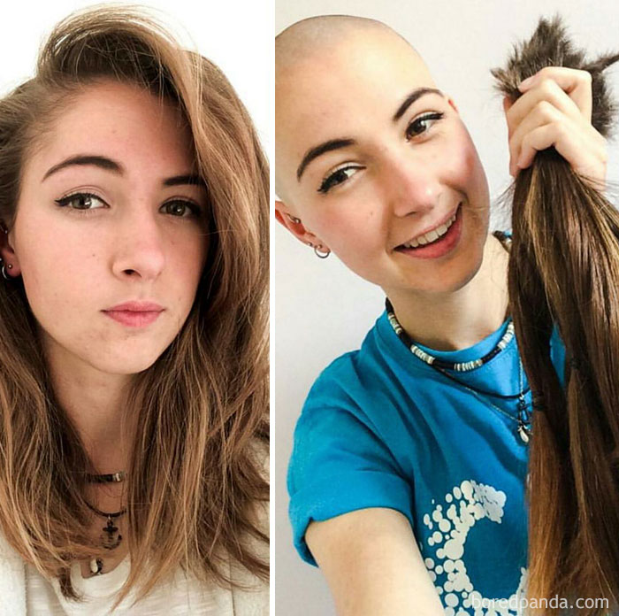 This Girl Chopped All Of Her Hair Off For Little Princess Trust