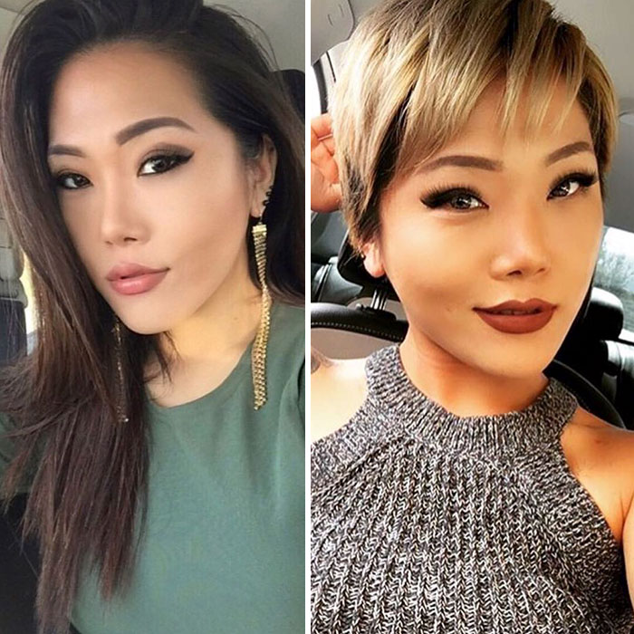 Share Before After Pics Of Your Extreme Haircut Transformations