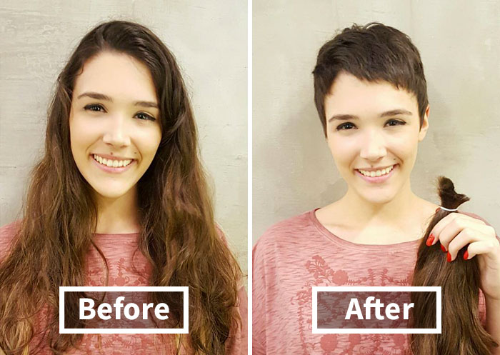 Share Before & After Pics Of Your Extreme Haircut Transformations