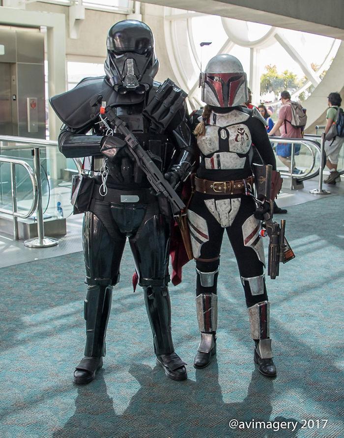 Death Trooper And Mandalorian Merc, Star Wars