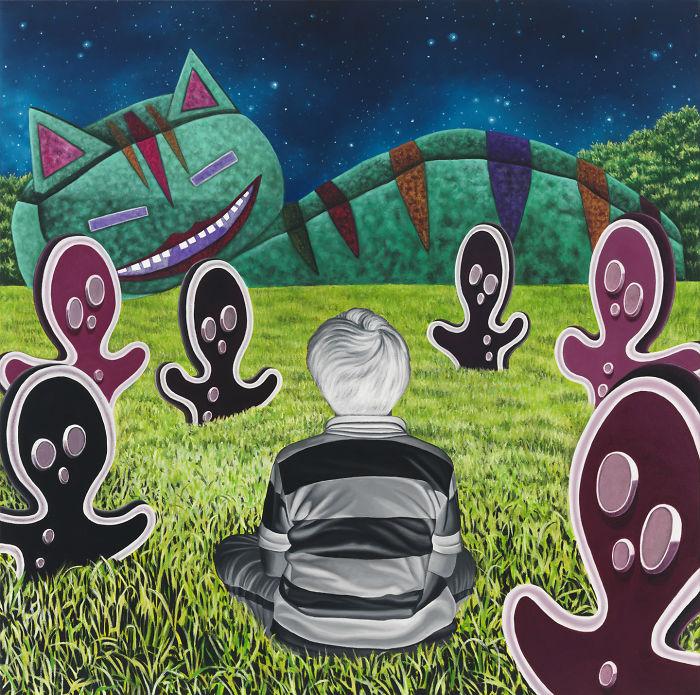We Listen, Oil On Canvas, 24″ X 24″