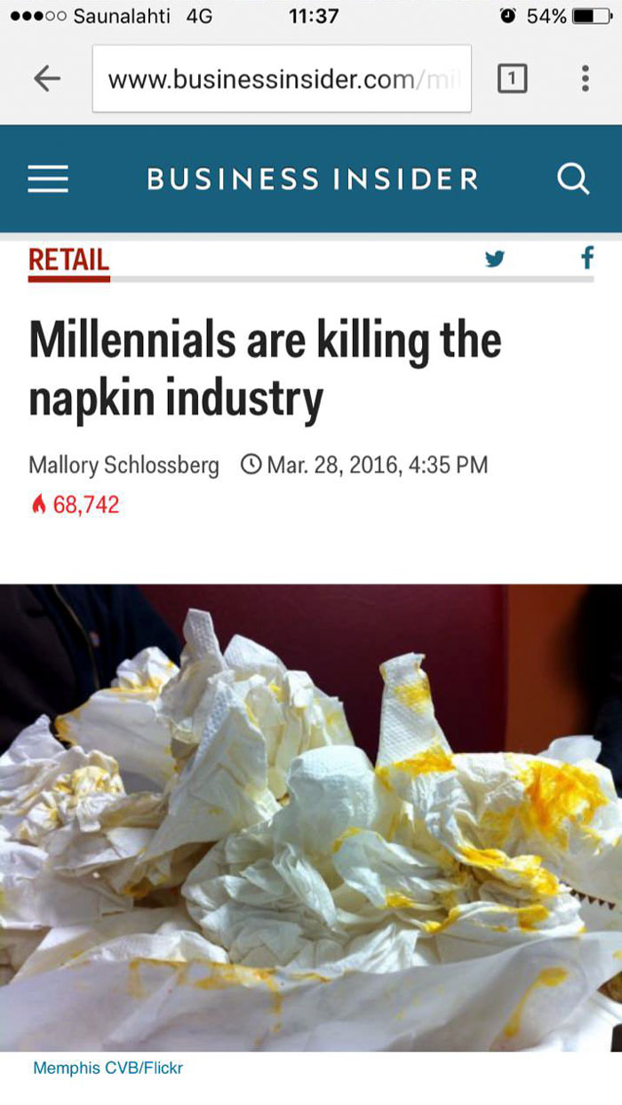 Someone Rounded Up All The Industries Millennials Are 'Killing,' And Here's How Millennials Responded