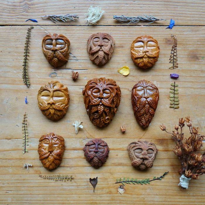 Avocado Stone Face