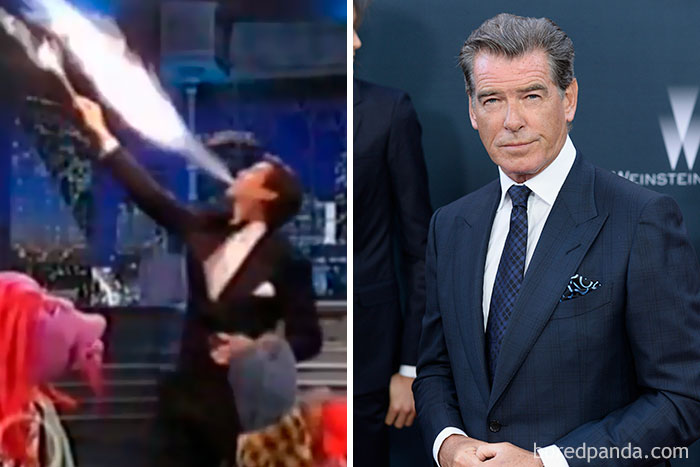 Pierce Brosnan Was A Professional Fire Eater In His Teens And Performed Under The Big Top For Three Years
