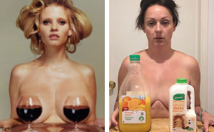 Woman Continues To Hilariously Recreate Celebrity Instagram Photos (10+ Pics)