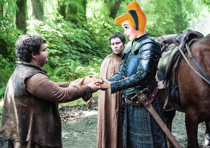 Cinderella As Brienne Of Tarth (Gwendoline Christie)