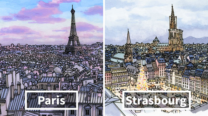 I Am A Travelling Artist And These Are Some Of My Latest City Illustrations From Around The World