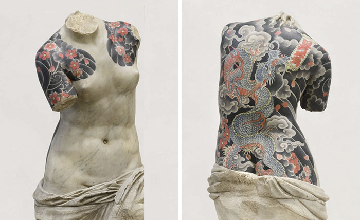 Italian Artist Gives Classical Sculptures Criminal Tattoos, Makes Them Look Totally Badass