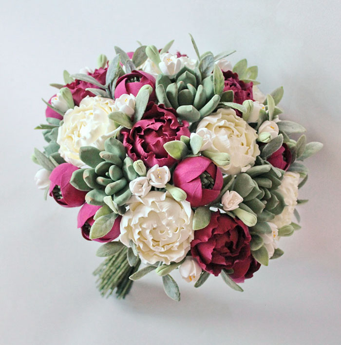 I Make Clay Bouquets That Brides Can Keep Forever