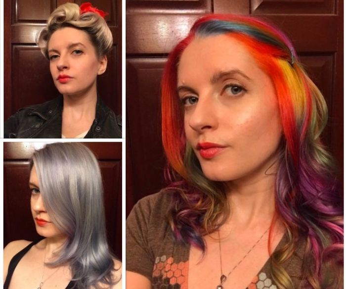 Born Brunette, Then Blonde, To Silver, And Currently Rainbow!