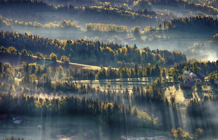 Chasing Sunrays In Upper-Savinjska Valley, Slovenia