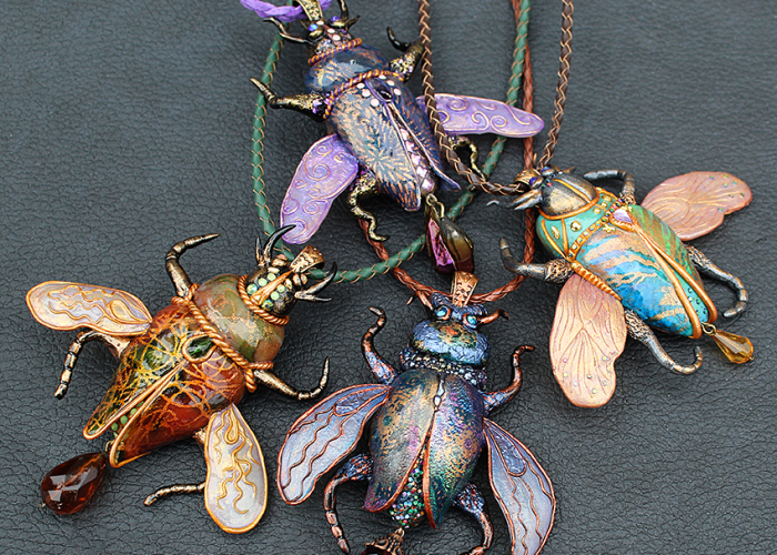 I Create Mesmerizing Insect Jewelry From Polymer Clay