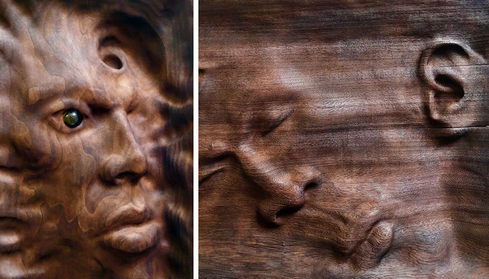 Artist Creates Unique Wood Sculptures Using An Ancient Woodworking Technique That He Saw In Visions
