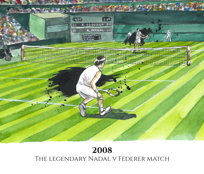 We Illustrated 10 Of The Best Wimbledon Moments