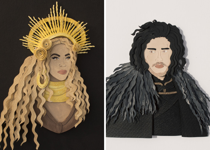 We Created Paper Cut Portrait Of Some Famous Personalities From History And Cinema