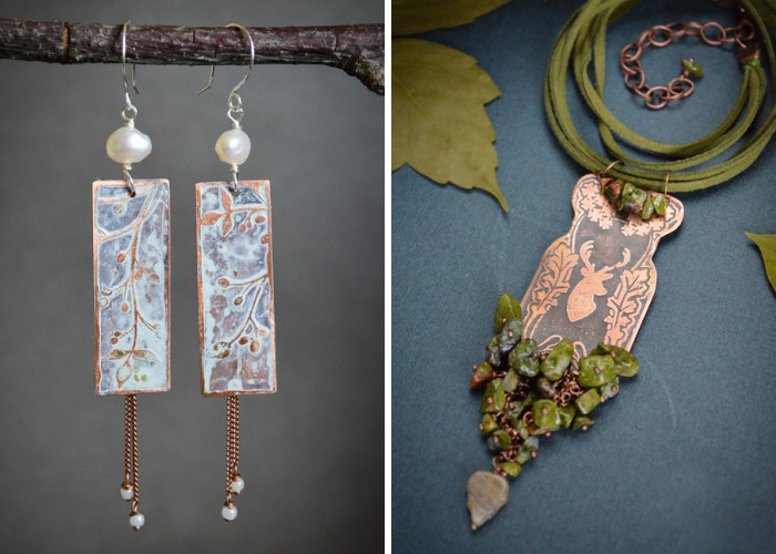 The Angel Garden: Gentle Wire Wrapped Jewelries By A Siberian Artist