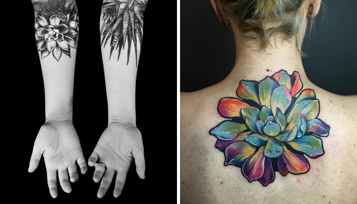 139 Awesome Succulent Tattoo Ideas For People Who Are Crazy About Succulents