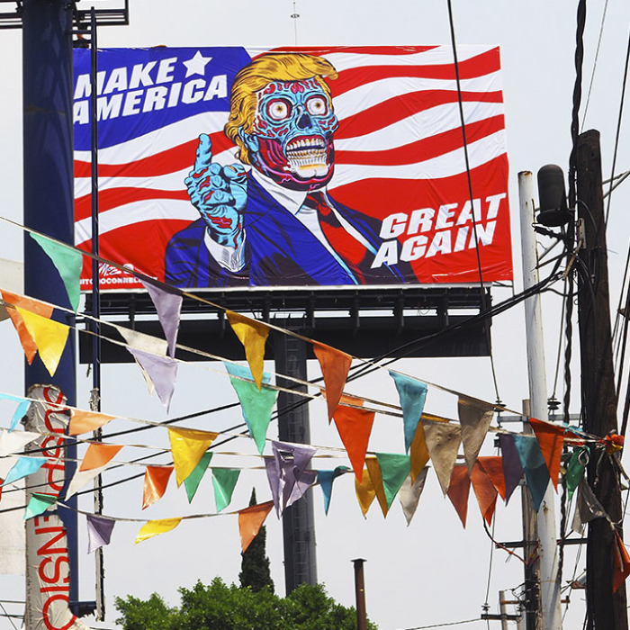 No American Billboard Company Dared To Display My Trump Art. Turns Out Only Mexico Had The Cojones!