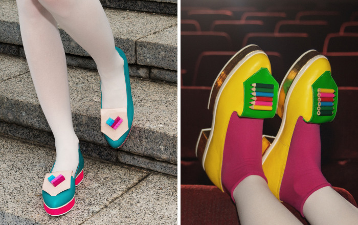 Quirky Shoes That I Made From Sentimental Childhood Things
