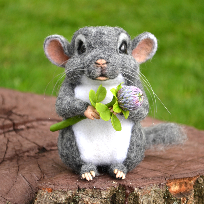 I Made A Very Sweet Needle Felted Chinchilla In Two Weeks!