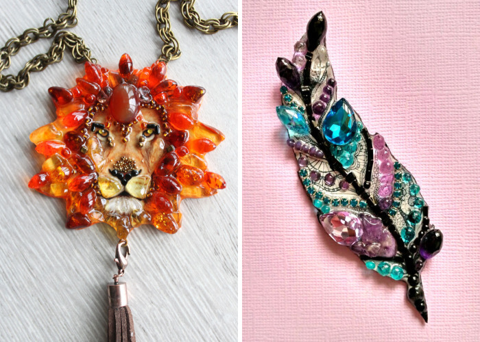 The Sunshine Of A Talent: Textured Brooches By Ekaterina Panfilova