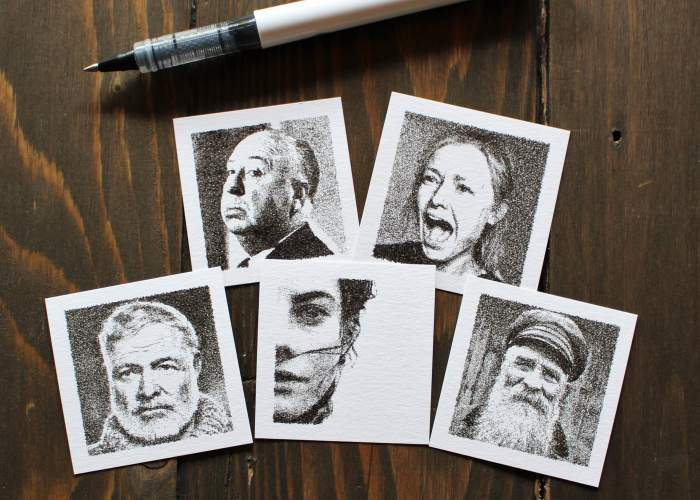 Tiny Portraits Drawn By A Robot