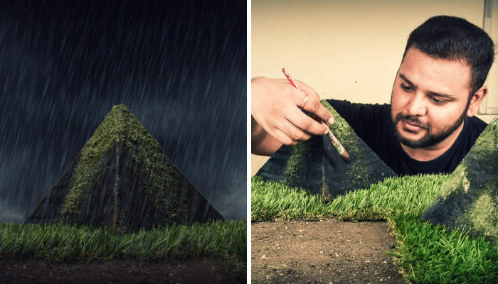 I Photograph The Same Miniature Scene From Two Perspectives To Portray Alternate Universes