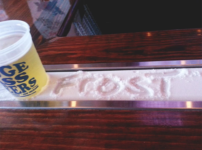 It Is A Refrigerated Strip In The Bar Itself. You Set Your Beer On It And It Stays Cold