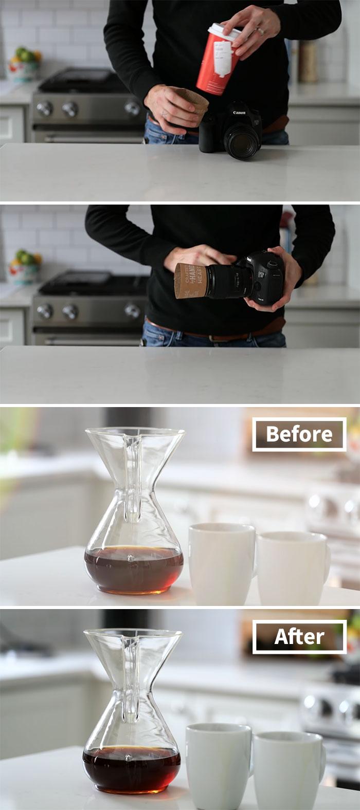 Use A Coffee Hood As Lens Cap