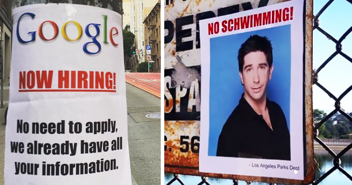 Someone Is Putting Up Fake Posters Around The City, And It's Hilarious